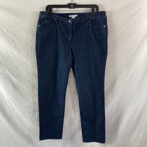 Kenneth Cole Dark Wash Straight Leg Jeans - 12